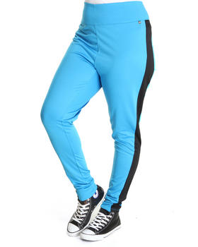 Apple Bottoms - High Waisted Side Colorblock Zip Back Pant (Plus)