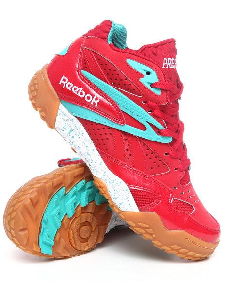 Reebok Men Red Scrimmage Mid Sneakers