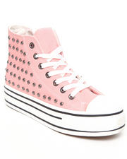 Fashion Lab - Breeze Midtop Canvas Sneaker w/studs