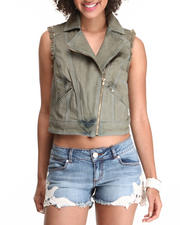 Summer Shop- Women - CROP MOTO VEST
