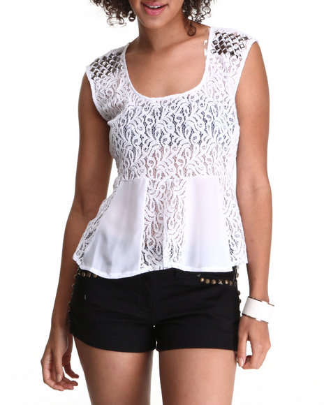 Chord - Lace Peplum Top