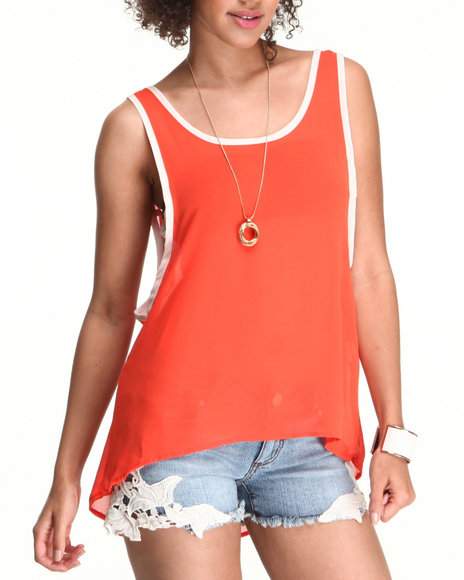 Chord - Women Orange Swing Tank