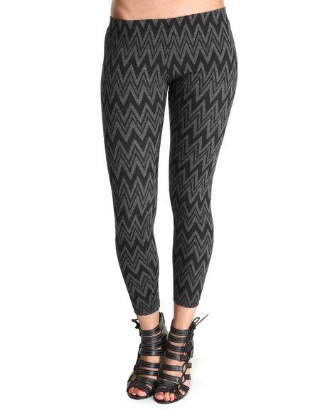 Fashion Lab Charcoal,Black Sweater Print Leggings