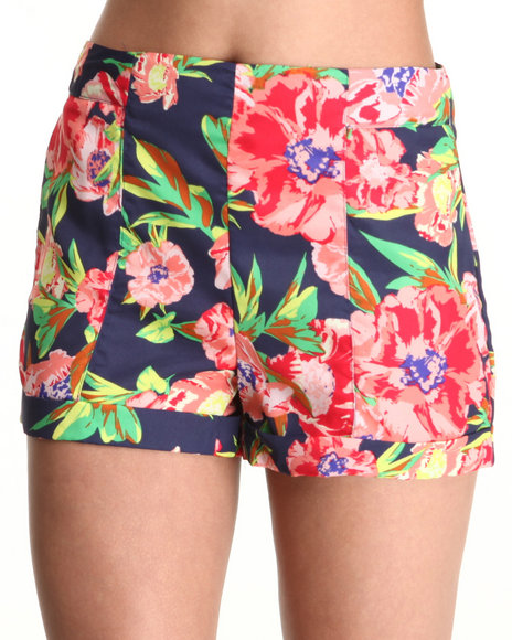 Chord - Women Multi Floral Shorts