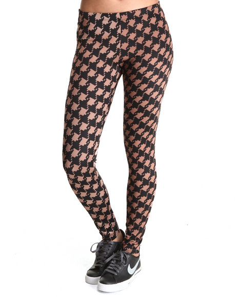 Fashion Lab - Women Black,Brown Leah Houndstooth Legging