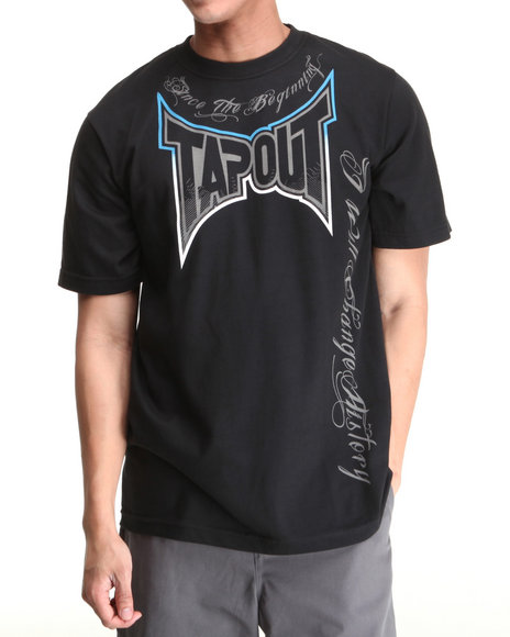 TAPOUT Men Black Since The Beginning Tee