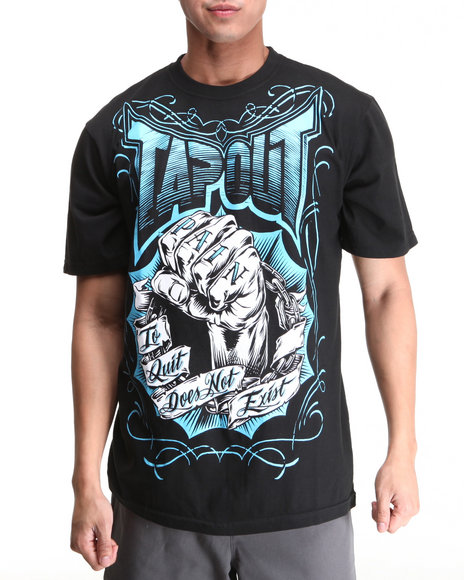 TAPOUT Men Black Fist Of Pain Tee