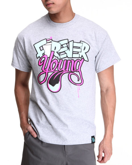 Filthy Dripped Grey Forever Young T-Shirt