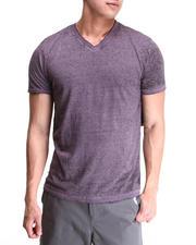 The Sale Shop- Men - Solid Burnout Wash V-neck tee