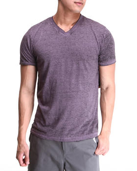 Buyers Picks - Solid Burnout Wash V-neck tee