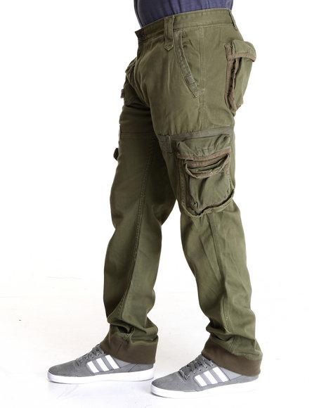 Rocawear Men Green Desert Classic Fit Pants