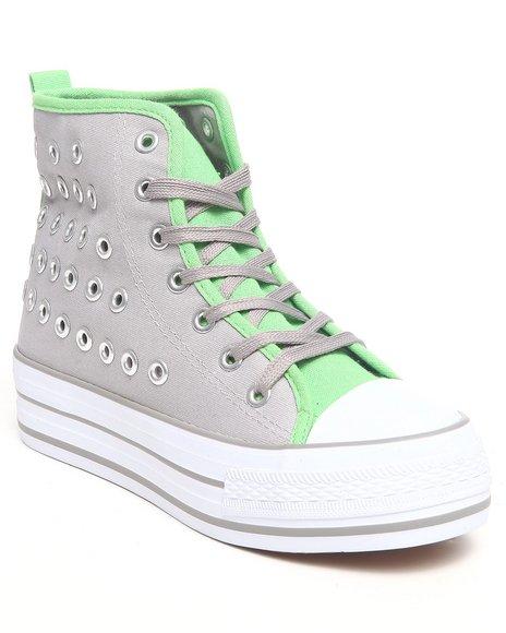 Fashion Lab - Women Green,Grey Jamie Platform Sneaker