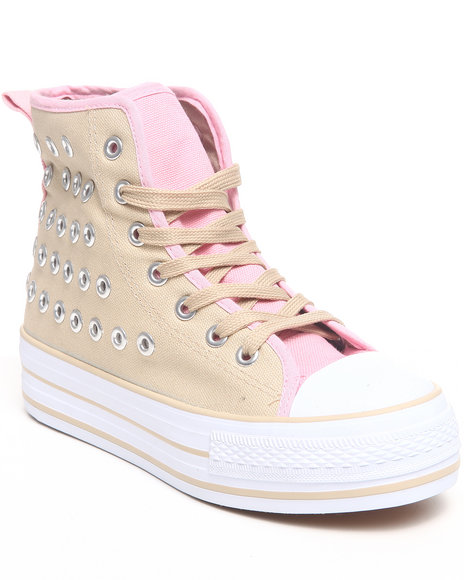 Fashion Lab - Women Beige,Pink Jamie Platform Sneaker