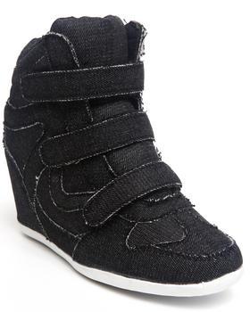 Fashion Lab - Bloomy Denim Sneaker Wedge