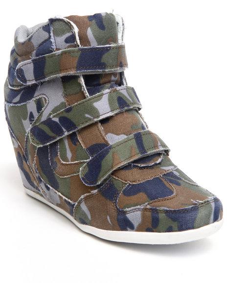 Fashion Lab Camo Bloomy Denim Sneaker Wedge