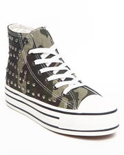 Fashion Lab - Breeze Midtop Canvas Camo Sneaker w/studs