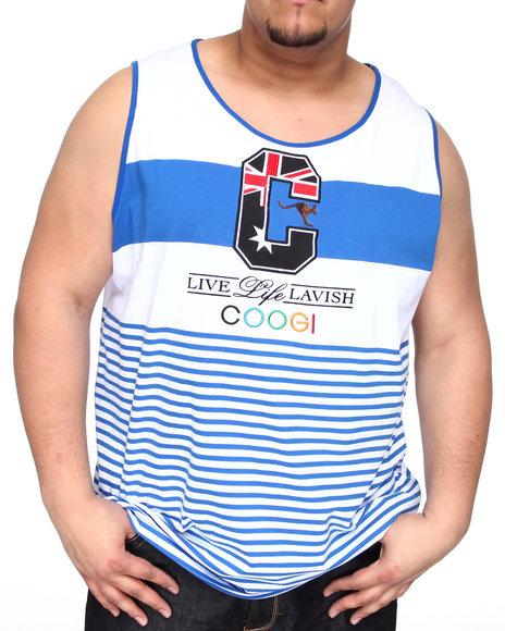 COOGI Men Blue Lavish Tank Top (B&T)