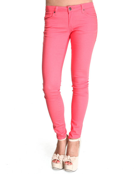 Basic Essentials - Women Pink Glitter Jeans