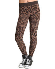 Leggings - Seamless Leopard Print Leggings