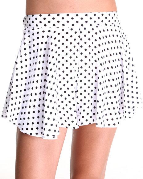 Fashion Lab White Polka Dot Swing Short