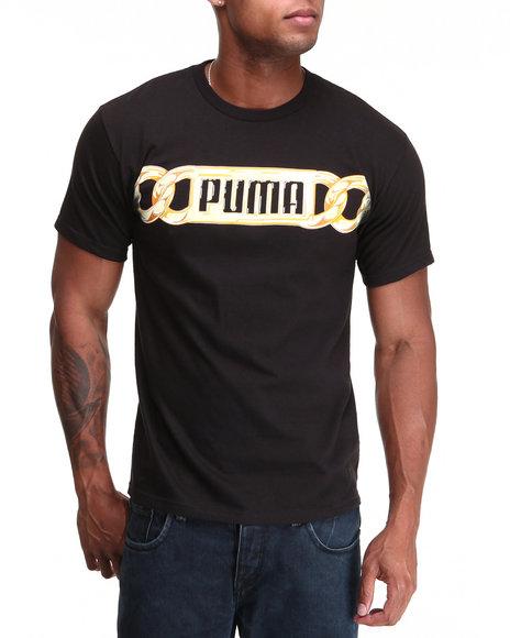 Puma Men Black Bling Chain Tee