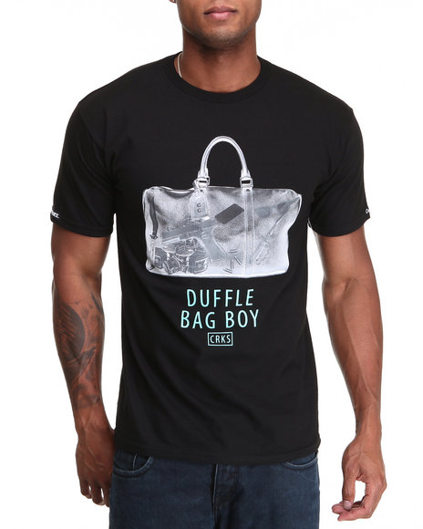 Crooks & Castles Black Duffle Bag Tee