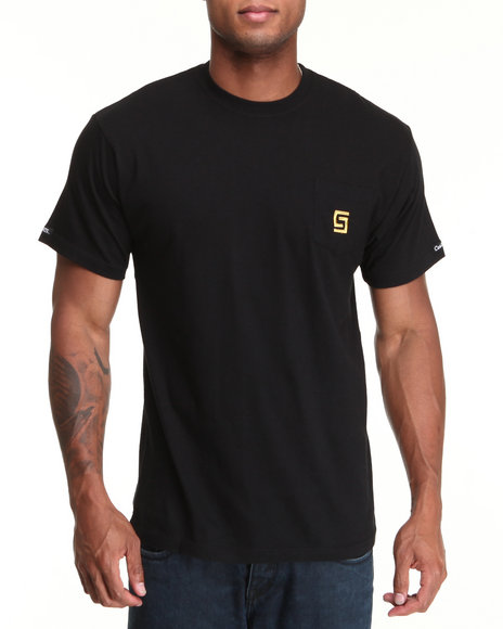 Crooks & Castles - Men Black Greco Foil T-Shirt