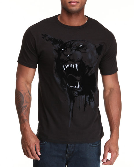 Puma Men Black Dripping Cat Tee