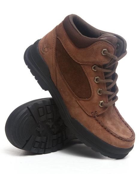 Timberland Boys Brown Earthkeepers Trekker Waterproof Moc Toe Chukka Boots