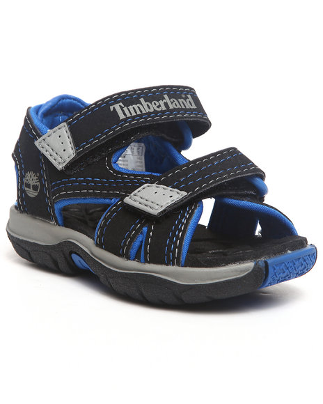 Timberland Boys Black Mad River 2 Strap Velcro Sandal (Toddlers)