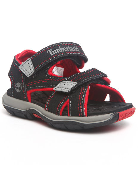 Timberland Boys Black Mad River 2 Strap Velcro Sandal (Toddler)
