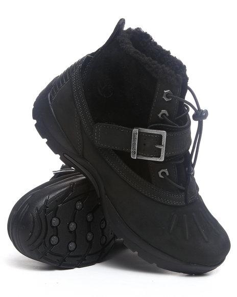 Timberland Boys Black Mallard Waterproof Mid Bungee Boots (3.5-7)