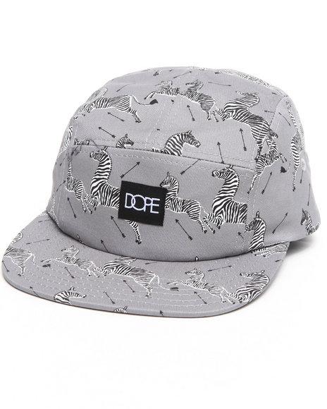 Dope Zebra Camper Hat Grey