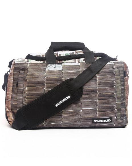 Sprayground Women Money Stacks Large Duffel Bag Multi