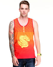 DJP OUTLET - Diamond Dollar Tank w/ 3 Button Detail