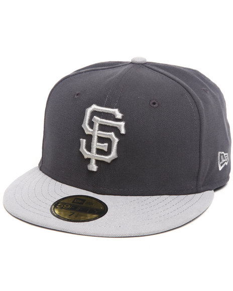 New Era - Men Grey San Francisco Giants 2-Tone Grey 5950 Fitted Cap
