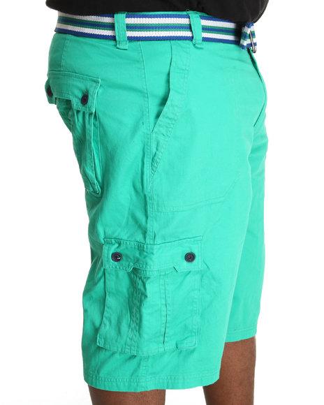 A Tiziano Men Green Fixx Cargo Shorts (B&T)
