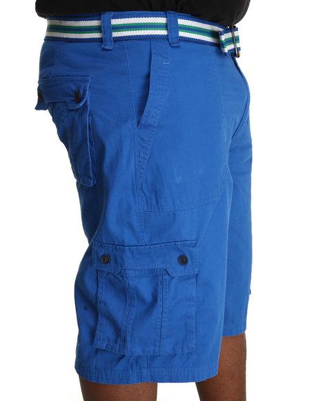 A Tiziano Men Blue Fixx Cargo Shorts (B&T)