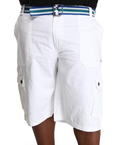 A Tiziano Men White Fixx Cargo Shorts (B&T)