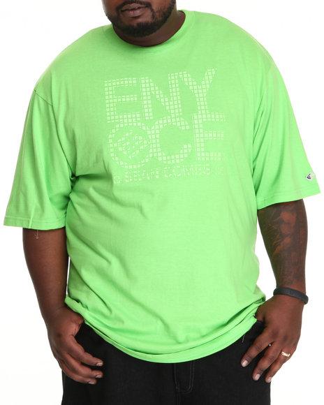 Enyce Men Lime Green Logo Hi-D Tee (B&T)