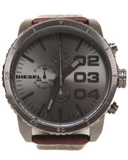 Diesel - Unisex Franchise 51mm Silver Metal Face w/ Leather Band Watch