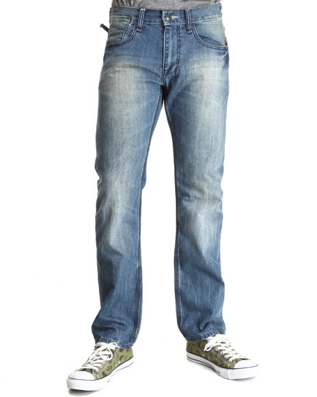 Syn Jeans - Men Medium Wash Vista Straight Slim Fit Denim Jeans