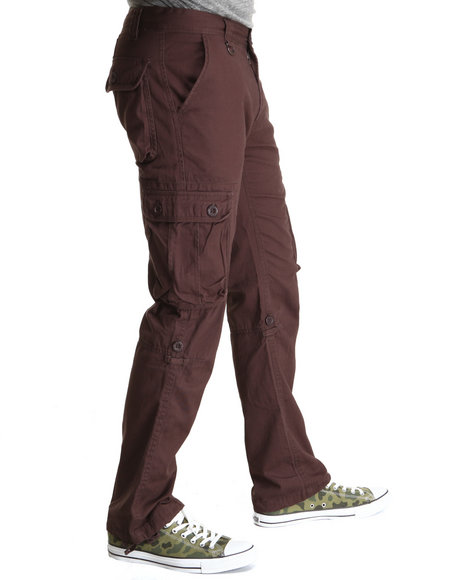 Syn Jeans - Men Brown Para Twill Cargo Pants