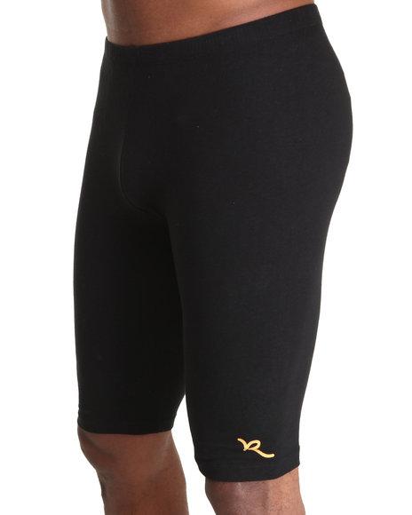 Rocawear Men Black Roc Logo Bike Short