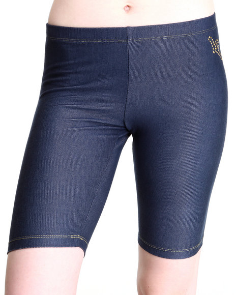 Rocawear Women Indigo Roc Logo Bike Short