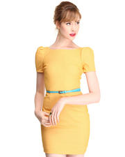 DJP Boutique - Cher V-Neck Back Dress w/belt