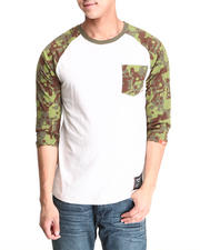 Men - Splatter Camo Pocket Raglan Tee