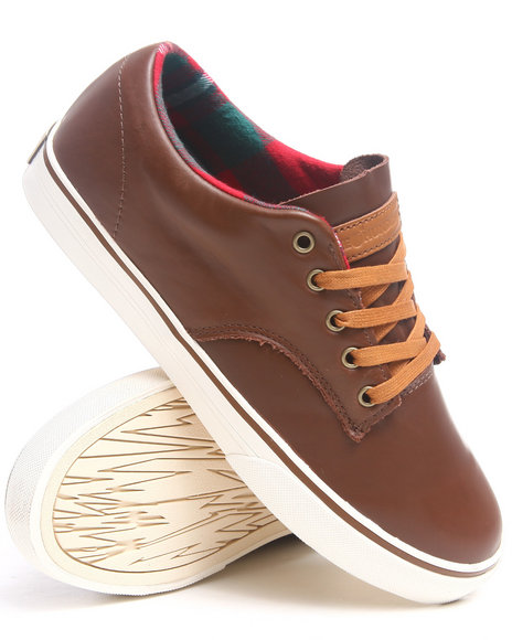 The Hundreds Brown Johnson Low Weatherproof Pack Leather Sneakers