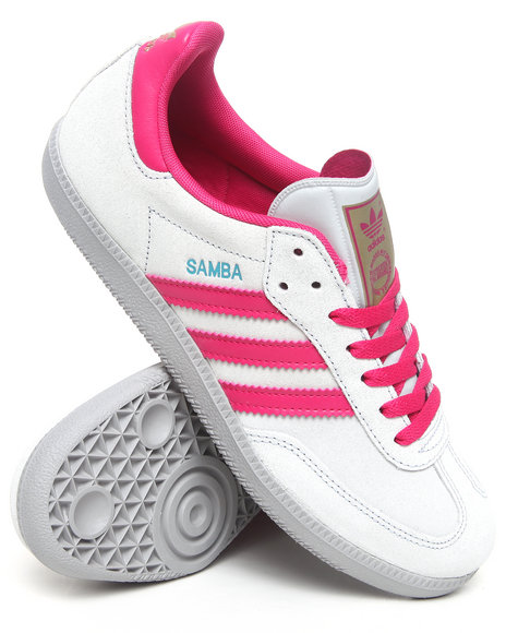 Adidas Women Grey,Pink,White Samba W Sneakers