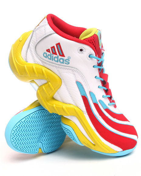 Adidas Men White Real Deal Sneakers